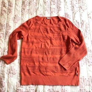 Orange Calvin Klein sweater